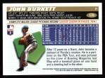 1996 Topps #179  John Burkett  Back Thumbnail