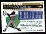 1996 Topps #139  Steve Finley  Back Thumbnail