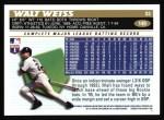 1996 Topps #149  Walt Weiss  Back Thumbnail