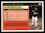 1997 Topps #448  John Wasdin  Back Thumbnail