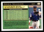 1997 Topps #397  Greg Vaughn  Back Thumbnail