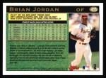 1997 Topps #415  Brian Jordan  Back Thumbnail