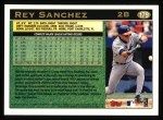 1997 Topps #179  Rey Sanchez  Back Thumbnail