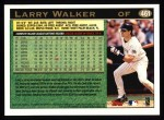 1997 Topps #461  Larry Walker  Back Thumbnail