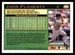 1997 Topps #412  John Flaherty  Back Thumbnail