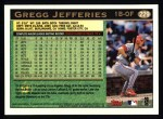 1997 Topps #229  Gregg Jefferies  Back Thumbnail