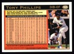 1997 Topps #165  Tony Phillips  Back Thumbnail