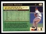 1997 Topps #440  Hideo Nomo  Back Thumbnail