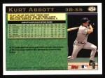 1997 Topps #454  Kurt Abbott  Back Thumbnail