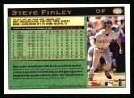 1997 Topps #189  Steve Finley  Back Thumbnail