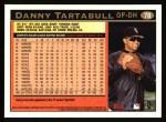 1997 Topps #78  Danny Tartabull  Back Thumbnail