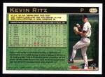 1997 Topps #233  Kevin Ritz  Back Thumbnail