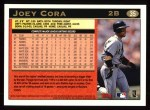 1997 Topps #35  Joey Cora  Back Thumbnail