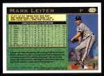 1997 Topps #327  Mark Leiter  Back Thumbnail