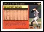 1997 Topps #439  Dave Stevens  Back Thumbnail