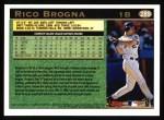 1997 Topps #289  Rico Brogna  Back Thumbnail