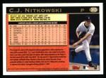 1997 Topps #313  C.J. Nitkowski  Back Thumbnail