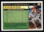 1997 Topps #56  Mike Lieberthal  Back Thumbnail