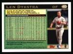 1997 Topps #413  Lenny Dykstra  Back Thumbnail