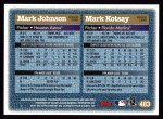 1997 Topps #483  Mark Kotsay / Mark Johnson  Back Thumbnail