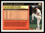 1997 Topps #30  Kevin Appier  Back Thumbnail