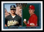 1997 Topps #479  Eric Chavez / Adam Eaton  Front Thumbnail