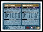 1997 Topps #479  Eric Chavez / Adam Eaton  Back Thumbnail