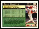 1997 Topps #266  Eric Owens  Back Thumbnail
