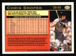 1997 Topps #137  Chris Snopek  Back Thumbnail