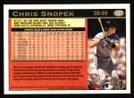 1997 Topps #137  Chris Snopek  Back Thumbnail