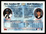 1997 Topps #252  Alex Sanchez / Matthew Quatraro  Back Thumbnail