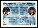 1997 Topps #252  Alex Sanchez / Matthew Quatraro  Back Thumbnail