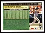 1997 Topps #278  Orlando Merced  Back Thumbnail