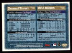 1997 Topps #272  Eric Milton / Dermal Brown  Back Thumbnail