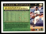 1997 Topps #182  Ramon Martinez  Back Thumbnail