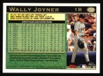 1997 Topps #132  Wally Joyner  Back Thumbnail