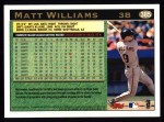 1997 Topps #385  Matt Williams  Back Thumbnail