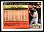 1997 Topps #6  Brady Anderson  Back Thumbnail