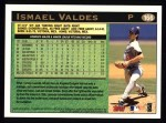 1997 Topps #166  Ismael Valdes  Back Thumbnail