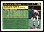 1997 Topps #210  Henry Rodriguez  Back Thumbnail
