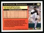 1997 Topps #53  Arthur Rhodes  Back Thumbnail