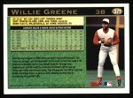 1997 Topps #371  Willie Greene  Back Thumbnail