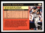 1997 Topps #288  Todd Greene  Back Thumbnail