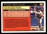 1997 Topps #377  Todd Walker  Back Thumbnail