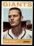 1964 Topps #189  Bob Hendley  Front Thumbnail