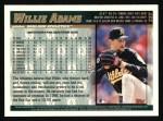 1998 Topps #227  Willie Adams  Back Thumbnail