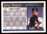 1998 Topps #458  Carl Pavano  Back Thumbnail