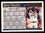 1998 Topps #191  Dave Mlicki  Back Thumbnail