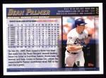 1998 Topps #328  Dean Palmer  Back Thumbnail