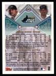 1998 Topps #501  Cedrick Bowers / Marcus McCain  Back Thumbnail
